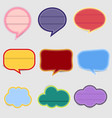 set speech labels with vintage colors vector image