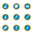 skin hygiene icons set flat style vector image vector image