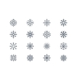 Snowflake icons 4 vector image