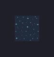 Starry night computer symbol vector image