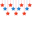 Stars in US colors vector image vector image