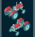 tractor isometric view vector image vector image