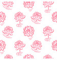 water lily pink flowers seamless pattern vector image vector image