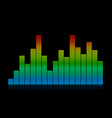 colored audio equalizer waves vector image