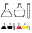 laboratory glassware symbol vector image