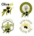Extra virgin olive oil labels vector image
