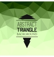 Abstract green triangle pattern vector image