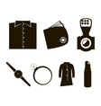 accessories icon set vector image vector image
