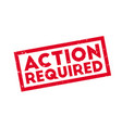 action required rubber stamp vector image vector image