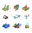 Augmented Reality Isometric Icons Set vector image vector image
