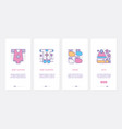 baclothes ux ui onboarding mobile app page vector image