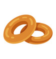 bagel tasty bread roll in shape a ring vector image vector image