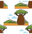 baobab tree in savannah south africa seamless vector image vector image