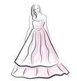 beautiful young bride vector image vector image
