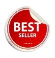Best seller label sticker vector image vector image