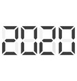 black electronic digits 2020 isolated vector image vector image