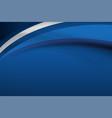 blue curve background vector image