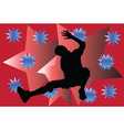 breakdance with background - vector image vector image