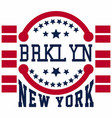 brooklyn new york vector image vector image