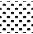 burger pattern seamless vector image vector image