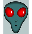 Cartoon alien head vector image