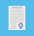 certificate diploma flat vector image vector image