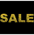 Christmas shopping and Sale Design with Gold vector image vector image