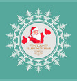 christmas snowflake with santa claus inside vector image vector image