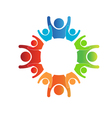 Circle of Families Logo vector image vector image