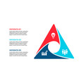 cycle infographic diagram with 3 options vector image vector image