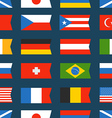 Different color flags seamless background vector image vector image