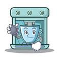 doctor coffee maker character cartoon vector image vector image