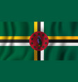 dominica realistic waving flag national country vector image vector image