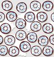 donutswithbluesprinklessp vector image vector image