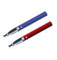 electronic cigarette blue and red e-cigarette vector image
