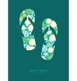 emerald flowerals flip flops silhouettes vector image vector image