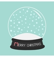 Empty crystal ball with snow Template Merry vector image vector image