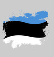 Estonia Flag grunge Brush strokes and ink splatter vector image vector image