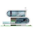 facade of a modern futuristic house vector image vector image