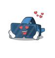 falling in love cute vr virtual reality cartoon vector image vector image