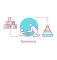 fatherhood concept icon vector image vector image