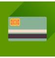 Flat icon with long shadow bank card vector image vector image