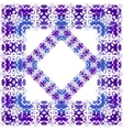 Floral purple pattern vector image vector image