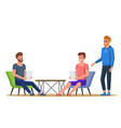 freelance meeting workplace vector image vector image