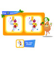funny fruit riddle 12 differences vector image vector image