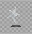 glass star award vector image