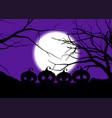 halloween background with spooky pumpkins vector image vector image