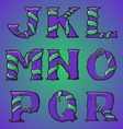 Halloween decorative alphabet part 2 vector image vector image