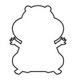 hamster silhouette black color icon vector image