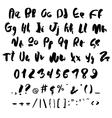 Handwritten trendy alphabet set vector image vector image